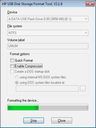 hpe usb key utility for windows 10