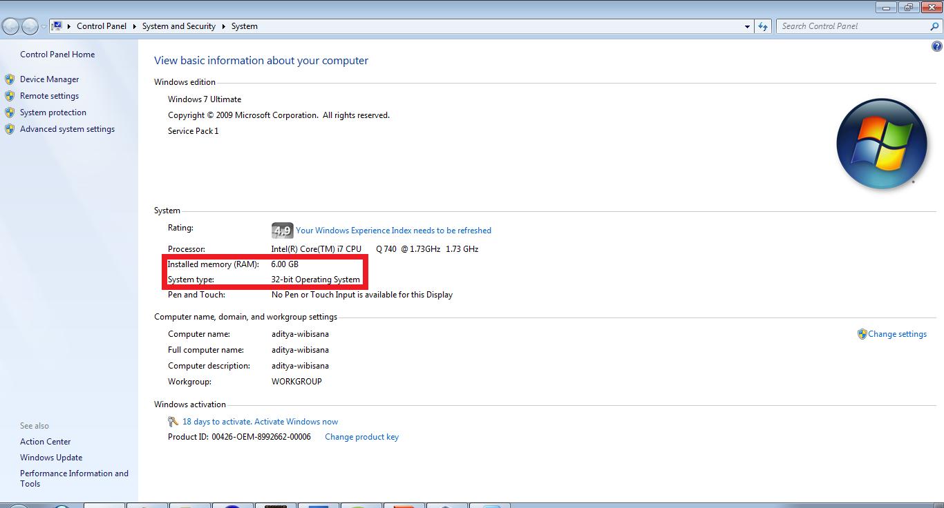 Windows 7 32 Bit Memory Limitations Of 32